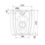 Бяла тоалетна чиния - стояща 8606 / Колекция Moai