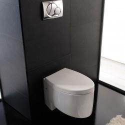 Бяла тоалетна чиния за стена 8208 / Колекция Zefiro