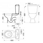 WC комплект Kometa в бяло