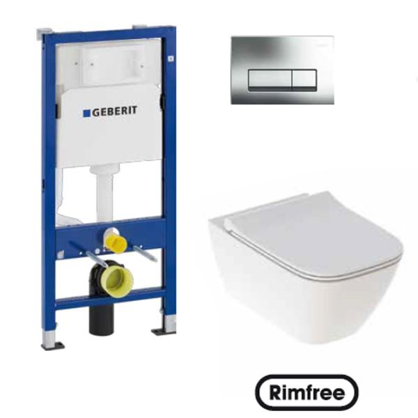 PROMO ПАКЕТ WC Структура за вграждане и тоалетна чиния GEBERIT SMYLE