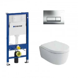 PROMO комплект WC Структура за вграждане и тоалетна чиния GEBERIT ICON