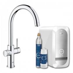 Модерен смесител за кухненска мивка с филтър – Grohe Blue Home
