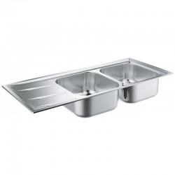 Двойна кухненска мивка неръждавейка K400 80-S