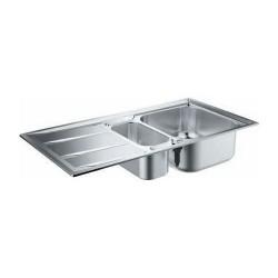 Двойна кухненска мивка неръждавейка K400 60-S