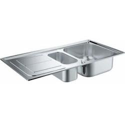 Двойна кухненска мивка неръждавейка K300 31564SD0