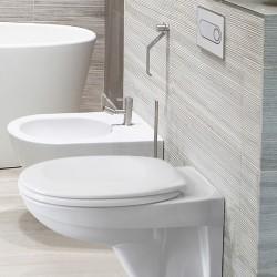 Структура за вграждане Pestan Fluenta с тоалетна чиния + бял бутон
