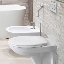 Структура за вграждане Pestan Fluenta с тоалетна чиния + хром бутон