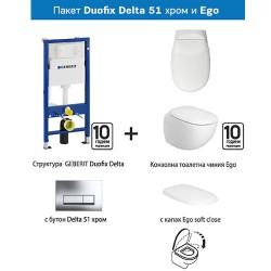Промо комплект Duofix Delta 51 и Ego на Geberit